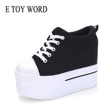 E TOY WORD Women Sneakers platform Vulcanized Shoes Hidden Heels Wedge sneakers height increasing Casual Shoes zapatillas mujer sneakers e goisto sneakers