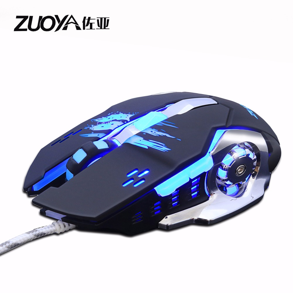 3200 DPI 6 Button LED Optical USB Wired Gaming Mouse Mice  with  Backlight For Pro Gamer Newest