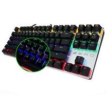 ME TOO ZERO игровая механическая клавиатура синий/черный/красный переключатель анти-ореолы подсветка Teclado Проводной USB для геймера Русский/Английский