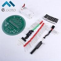 60 s Roterende Elektronische Klok DIY Kit 60 S Rotate Digitale Klok Kits Elektronische Productie Training Onderwijs Experiment DIY Suite