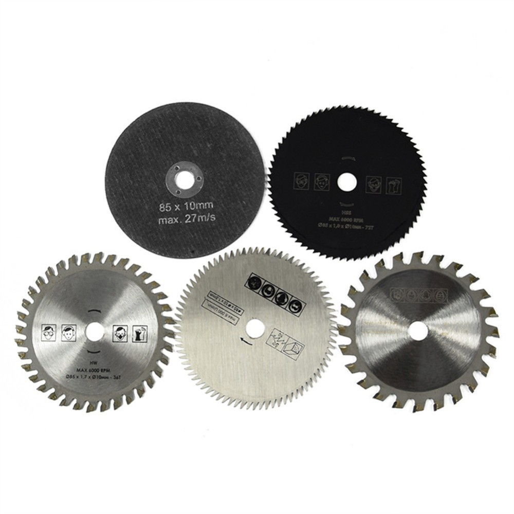 5pcs Multi-Function Diameter 85mm Carbide Small Circular Saw Blade Saw Blade Oscillating Tool Saw Blade For Power Tools Cutting