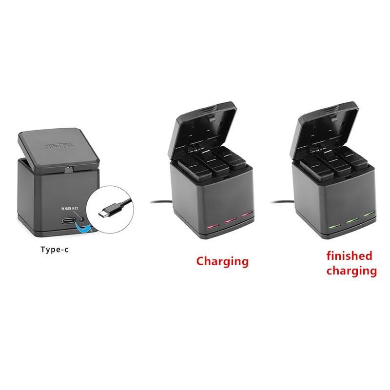 1pcs 3-way Battery Charger Charging Storage box + 2pcs 1220MAH AHDBT-501 Batteries For GoPro Hero 5 7 Black Hero 6 Camera (7)