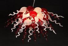 лучшая цена Free shipping amber colored blown glass chandelier lighting crystals (BGC201842)