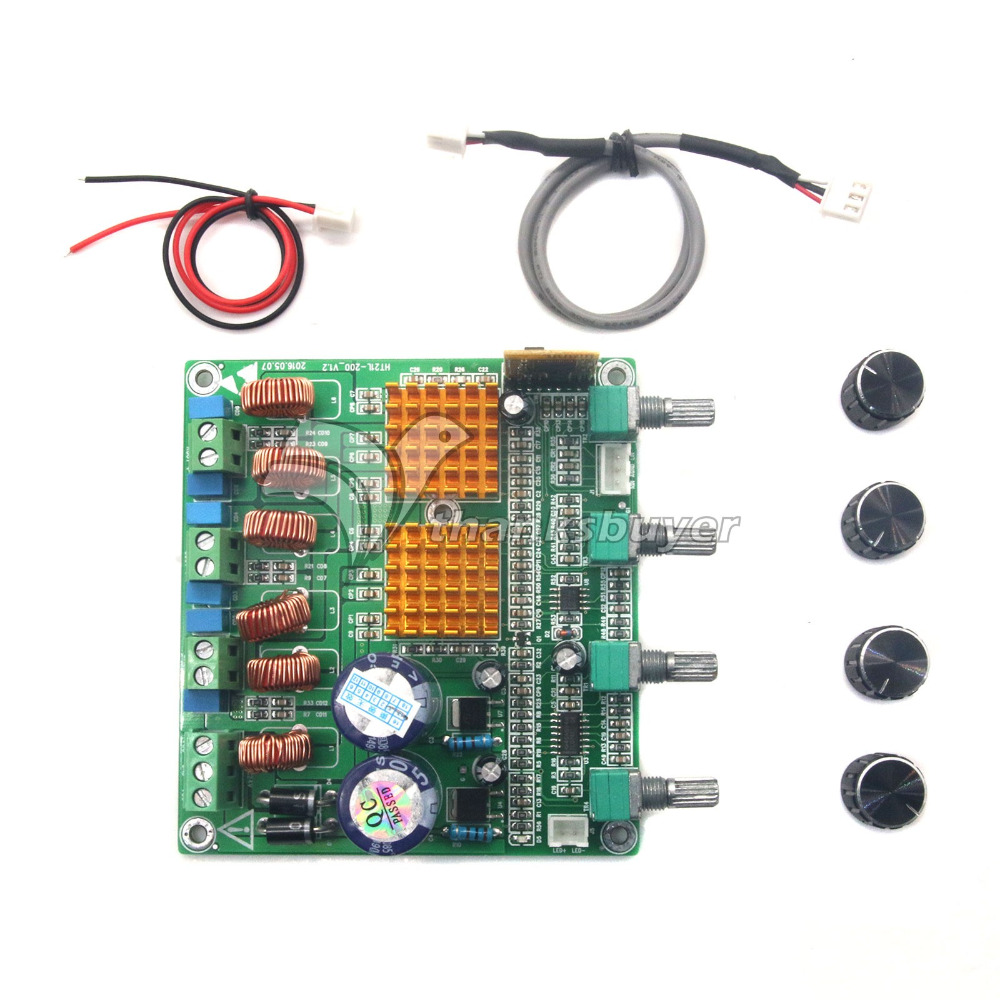Prix pour Bluetooth 4.0 récepteur Numérique 2.1 Classe D HIFI Amplificateur de Puissance Conseil 3CH Super Bass Amp fièvre TPA3116D2 100 w + 50 w + 50 w