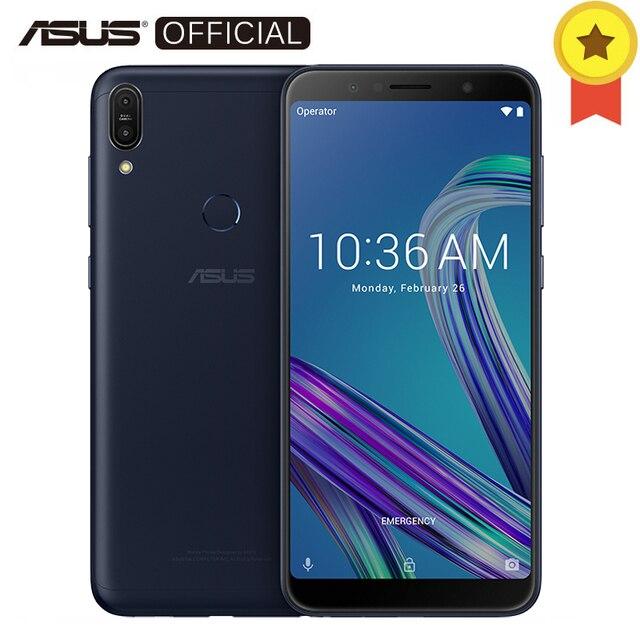 Asus Zenfone Max Pro (M1) ZB602KL SnapDragon 636 Android 8,1 4 ГБ 64 ГБ 6' 18:9 FHD + Face ID 5000 мАч Батарея мобильный телефон 3 слота