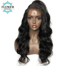 FlowerSeason Loose Wave Brazilian 5*4.5 Silk Base Lace Front Human Hair Wigs With Baby Hair Non-Remy Natural Hairline 130%