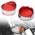 1 Par Motorbike Turn Signal Indicator Light Trim Anel Len Viseira Capa Para Harley/Dyna/Softail
