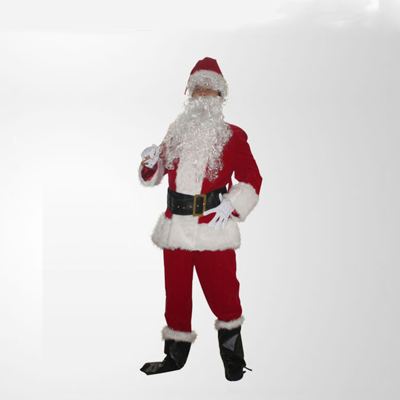 Santa claus Mascot Costume For Adult For Party Cloth santa Costume high quality santa claus costume for Christmas Gift