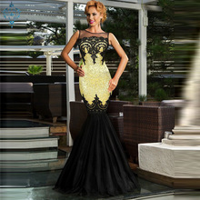 Ameision Formal Mermaid Evening Dresses Long 2019 Gowns Women Scoop Sequin Sleeveless Floor Length Sexy Party Dress