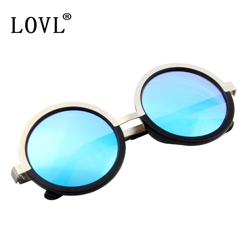 5b850f8afc4cd LOVL Fashion Women Round Sunglasses Retro Star Style Brand Designer Metal  Frame Sun Glasses UV400 Goggles Oculos De Sol 8123-in Sunglasses from  Apparel ...