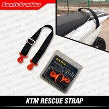 Кунг-фу графика задний буксир тяга ремень веревка грязи велосипед выживания самоспасение для KTM SX XC F EXC EXC-F XC-W XCFW 14 15 16 17 18 19