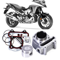 beler New Silver Metal 47mm Big Bore Kit Cylinder Piston Rings fit for GY6 50cc to 80cc 4 Stroke Scooter Moped 139QMB Engine