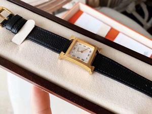 Женские кварцевые наручные часы ручной работы из натуральной кожи с квадратным циферблатом