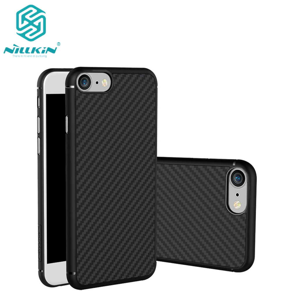Nillkin synthetic fiber phone case for Apple iphone 7 Plus case Hard Carbon Fiber PP Plastic Back Cover Case for apple iphone 7 mobile phone