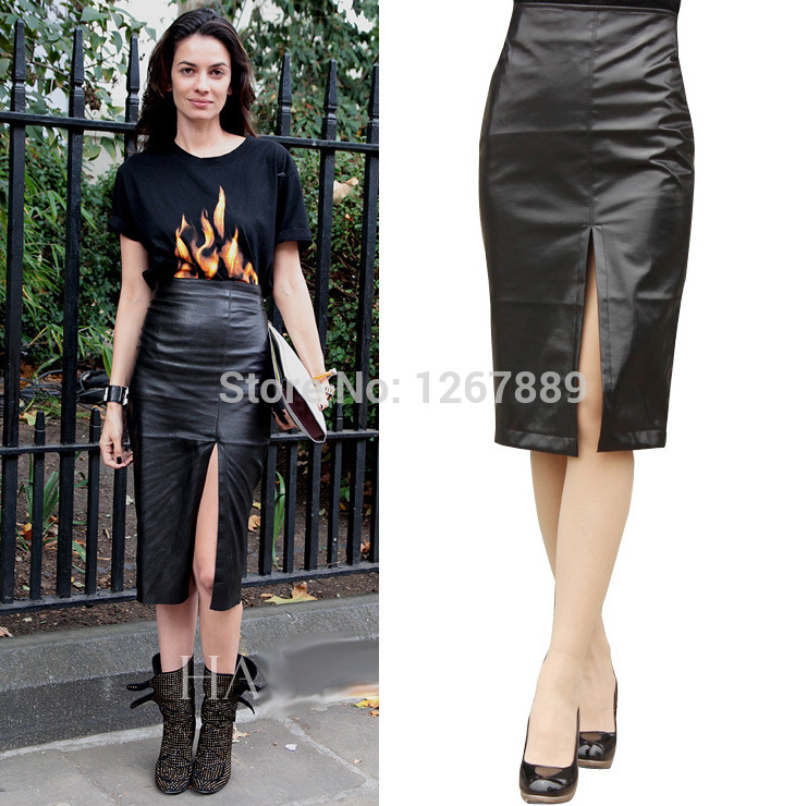 Aliexpress.com : Buy 2014 New PU leather skirt womens Winter ...