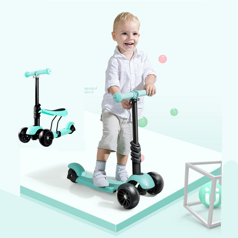 New Children's Scooter 1 3 6 Years Ride & Slide three wheel car flash wheel Trolley baby buggy Bike