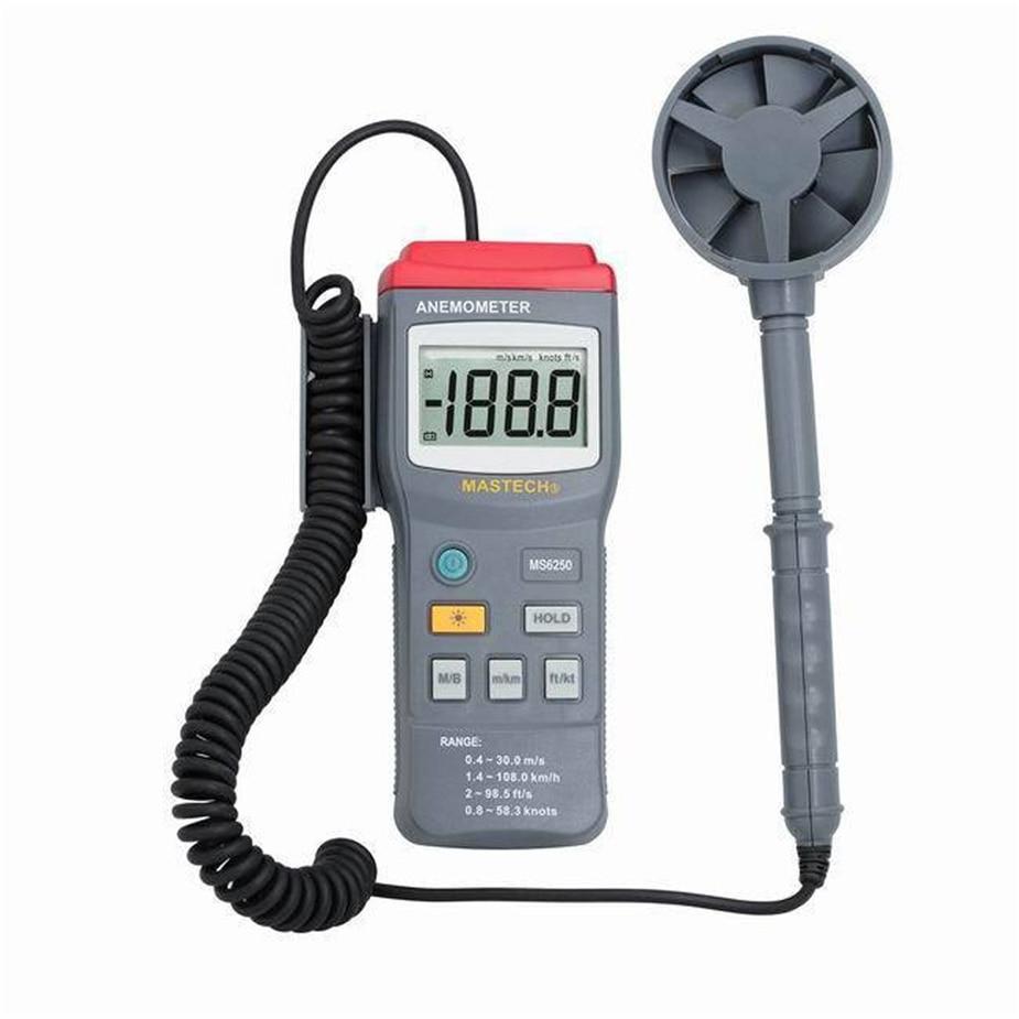Selling MASTECH MS6250 Digital Anemometer Air Velocity Wind Speed Meter Gauge Tester w/ LCD Backlight цена