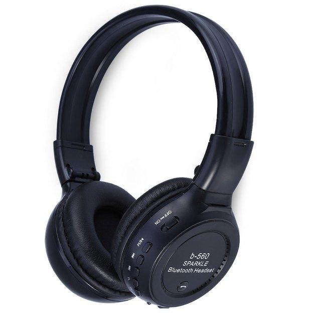 Zealot b560 bluetooth v4.0 auricular auriculares diadema plegable auriculares estéreo con radio fm inalámbrico ranura para tarjeta de tf