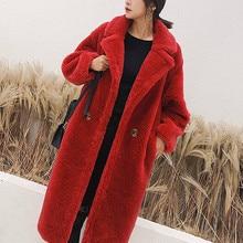 Женское зимнее пальто, роскошное модное длинное пальто с длинными рукавами и воротником-стойкой, тонкая Толстая теплая шерстяная парка, XHSD-402