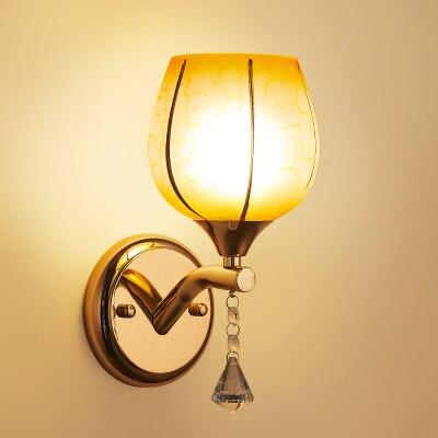ФОТО Chocolate color LED American modern minimalist bedroom bedside wall lamp European aisle stairs lamp creative living room balcony