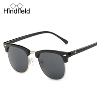 HINDFIELD Fashion Sunglasses Men Polarized Retro Mens Eyeglasses UV400 Male Eyewear Sun Glasses for Man Vintage Oculos Lunette