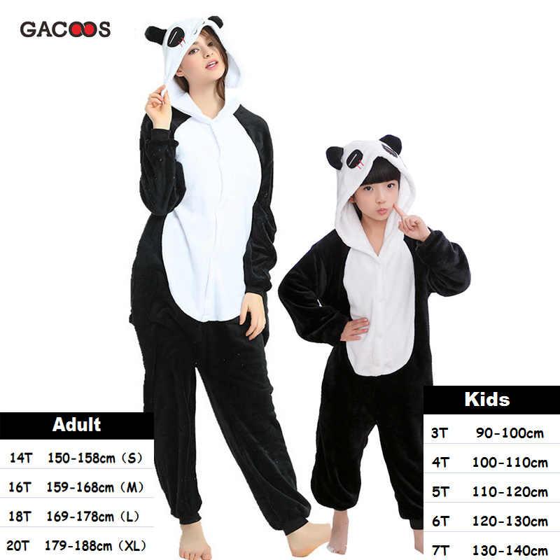 Pijamas para chicos de invierno con Unicornio, pijamas de Panda Kugurumi, para mujer, Onesies, Unicornio, franela, puntada, gato, trajes de dormir