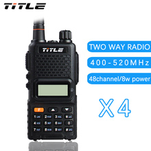 (4 PCS)Black KSUN portable radio UV-K4 Dual Band UHF 400-520MHZ FM RADIO Two Way Radio walkie talkie