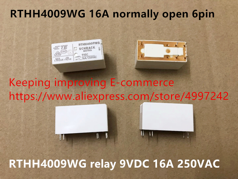 Original new 100% import RTHH4009WG 16A normally open 6pin relay 9VDC 16A 250VAC