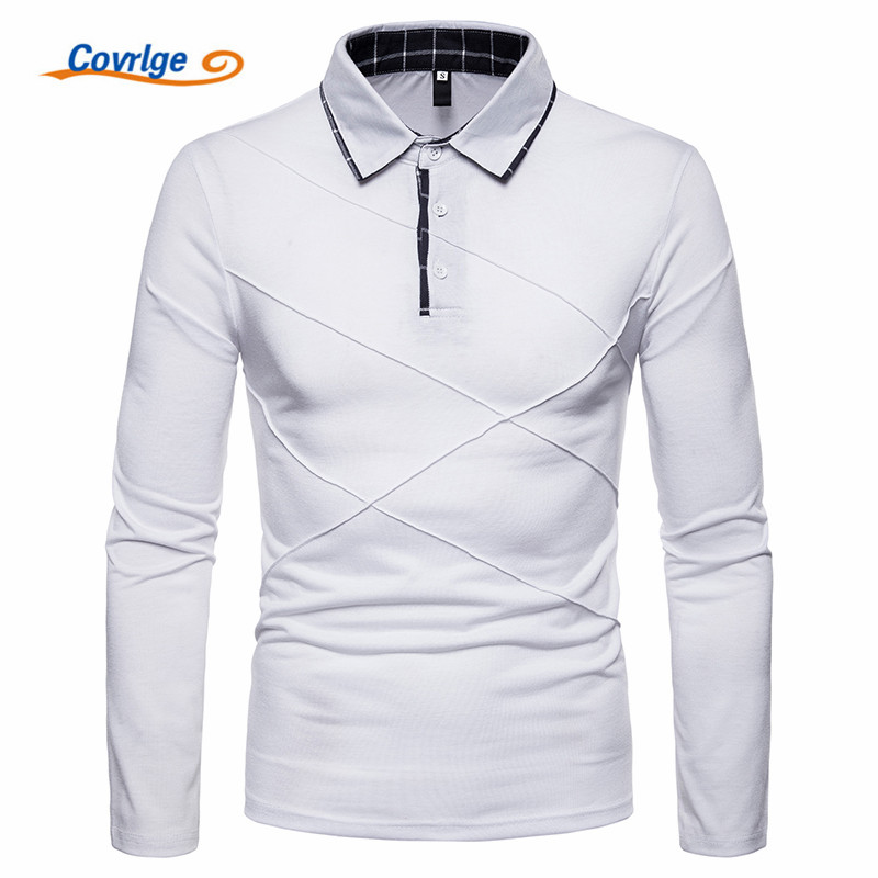 Covrlge   Polo   Shirt Men Plus Size Spring Brand Business Men's   Polo   Shirt Long Sleeve Casual Male Shirt Mens   Polo   Shirts MTP101