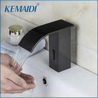 KEMAIDI New Bathroom Sink Tap Bathroom Faucet Brass Material ORB Finished Hot And Cold Automatic Hands Touch Free Sensor Faucets