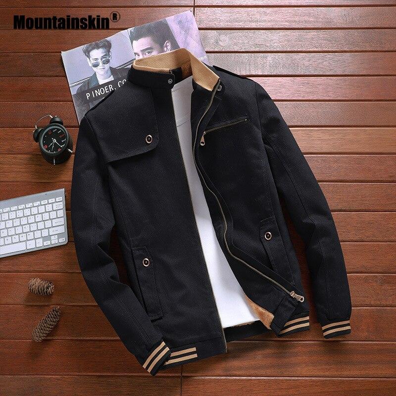 Mountainskin New Autumn Jackets Men Pilot Bomber Jacket Male Fashion Baseball Coats Slim Fit Coat Mens Brand Clothing 5XL SA692