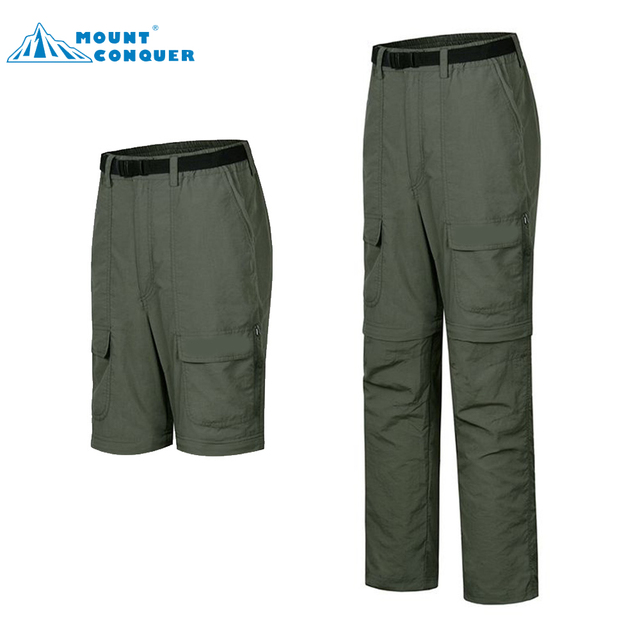 a4b47b655527 Men Outdoor Sports Fishing Camping Pant Summer Removable Quick Dry Hiking  Pants Thin Breathable UV Protection Trousers
