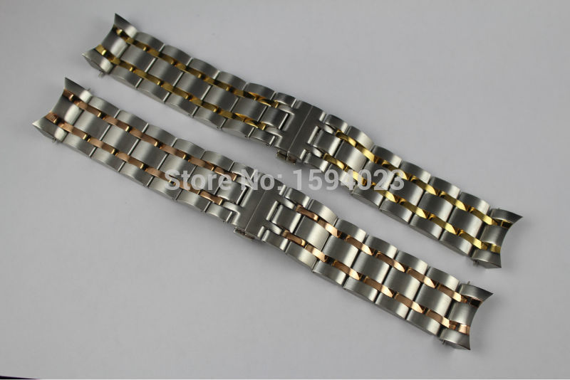 24mm T035614A T035627 Watch Parts Male Solid Stainless steel Gold plating bracelet strap Rose gold plated WatchBands For T035