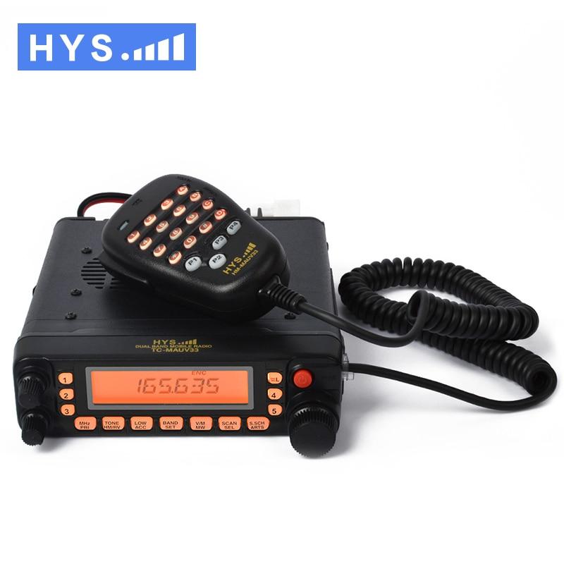 VHF/&UHF Dual Band Mobile Car Radio Internet Connecting Ham Transceiver 1105CH