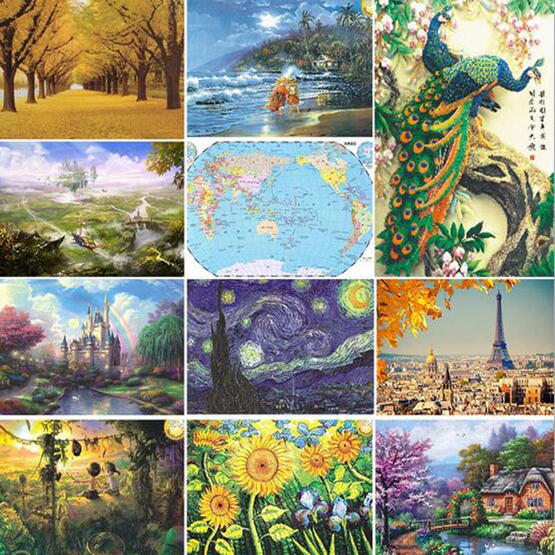 1000 bucati Cladirea lumii celebre puzzle-uri puzzle de hârtie - Jocuri și puzzle-uri
