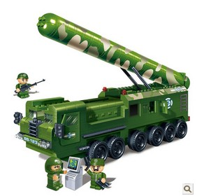 Banbao 6202 Military Series intercontinental missile 502 pcs Plastic Building Block Sets Educational DIY Bricks Toys