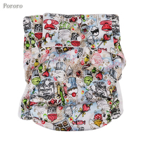 1PC Adult Diapers printed cloth Leaky lazy care products can wash diapers pants big waist size 125cm send 1 pc insert W17D20