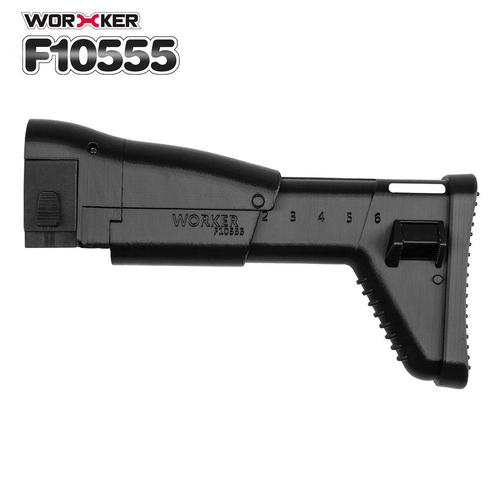 Travailleur Mod Épaule Stock 3D Impression Queue Stock Crosse Pistolet Jouet Accessoires de Remplacement Pour Nerf n-strike Elite Série