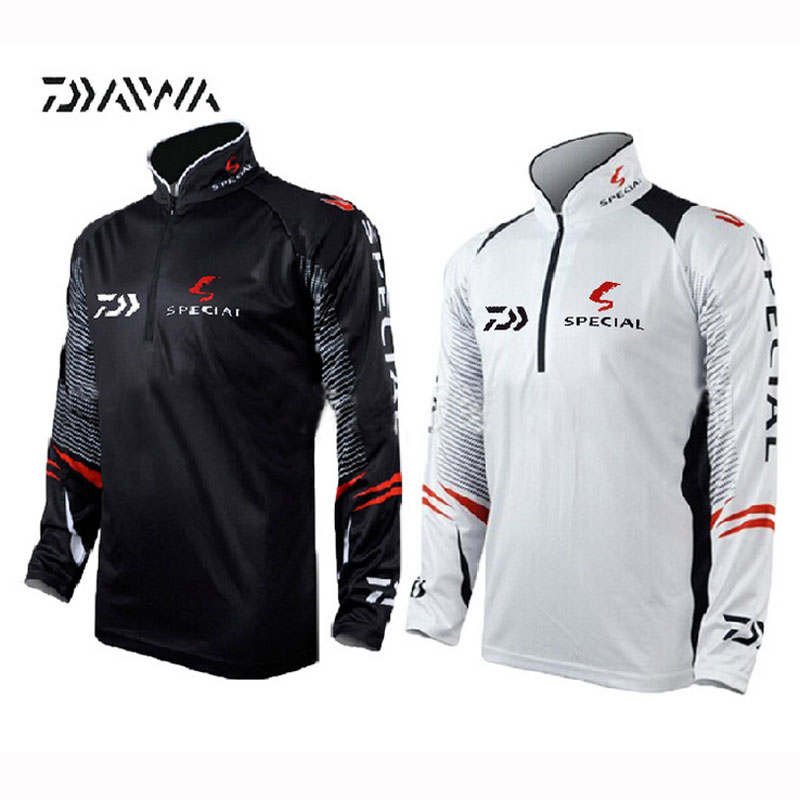 2017 newest brand daiwa fishing clothing for men summer for Uv protection fishing shirts