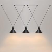 Loft vintage pendant lights Iron Pulley Lamp Bar Kitchen Home Decoration E27 Edison Light Fixtures Free Shipping