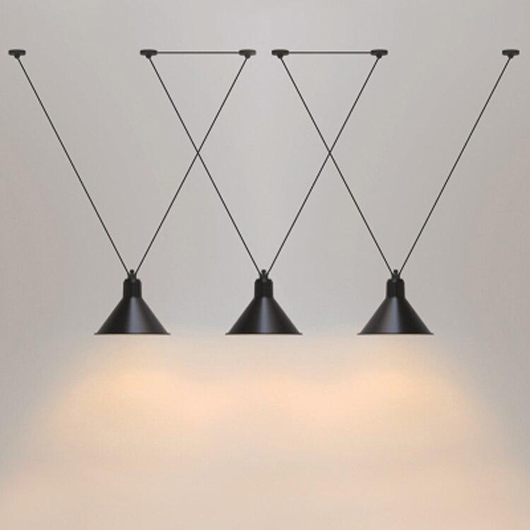 Loft vintage pendentif lumières Fer Poulie Lampe Bar Cuisine Accueil Décoration E27 Edison Luminaires Livraison Gratuite
