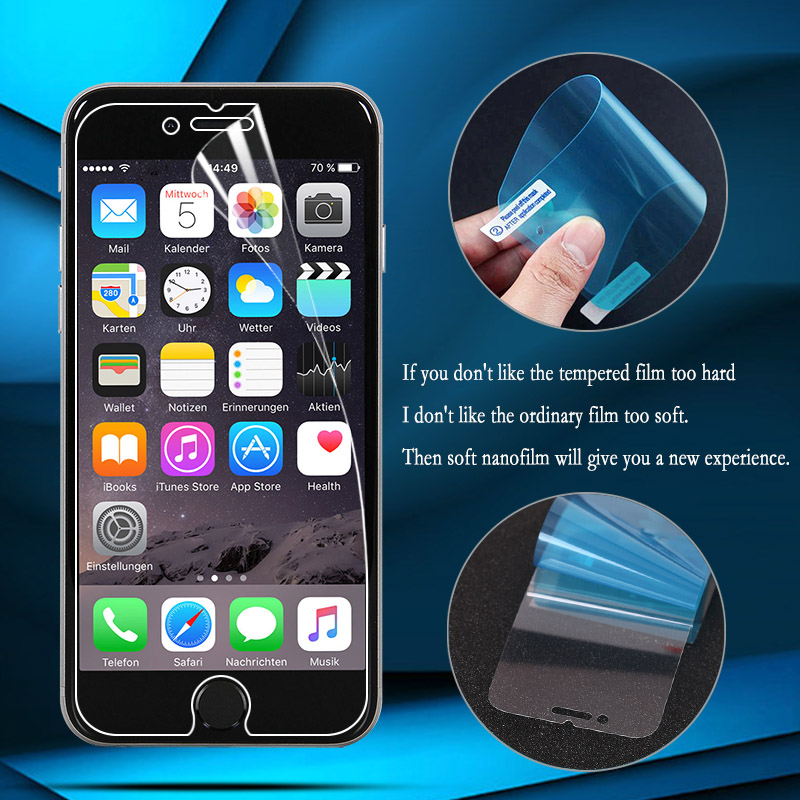 Explosion-proof Soft Film Foil For IPhone 7 6 X Screen Protector For IPhone 11 Pro XR XS Max 5S 5 6S 8 Plus (Not Tempered Glass)