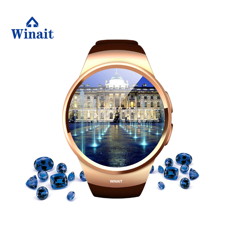 winait GSM heart rate monitor watch KW18 CPU MTK2502C support IOS + Android 350 mAh high ...