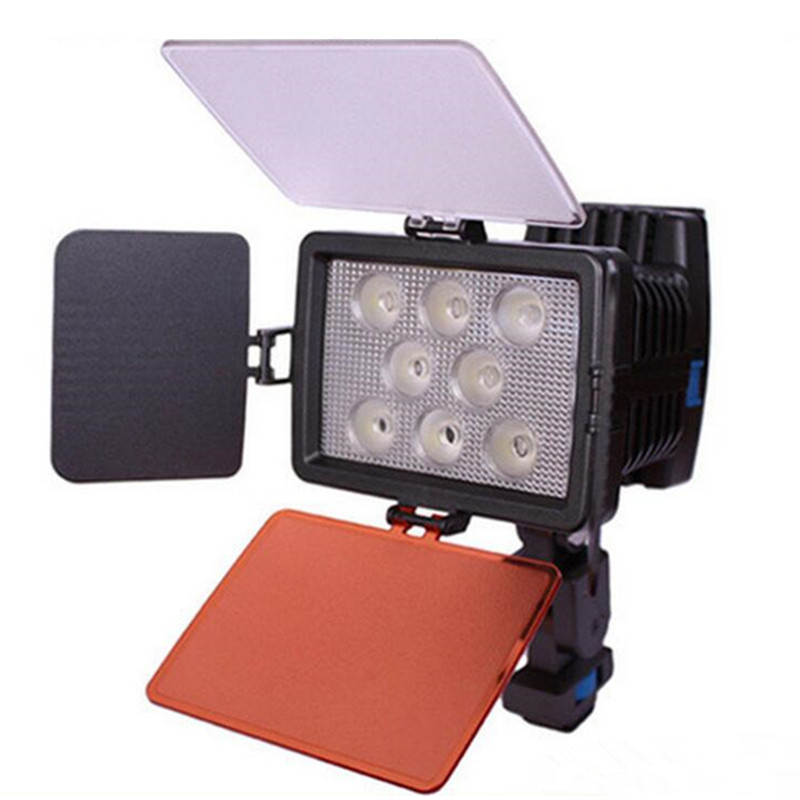 8 piece Lamp beads with filter LED 5080 Camcorder DV Video Light with Filters for Camera camcorder Led light, NO BATTERY godox led 308y 308 leds professional led video 3300k light with remote control for canon nikon camera dv camcorder
