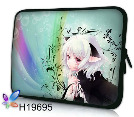 """Cartoon Girl Shape,EMS Free,Wholesale Laptop Sleeve Notebook Cover Pouch PC Netbook Case Bag For Apple HP 10""""13""""14""""15""""17"""""""