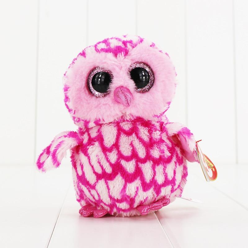 15 см Ty Beanie Боос большие Средства ухода для век плюшевые игрушки куклы розовый сова ty подарок для маленьких детей Коллекция Мягкие плюшевые и...