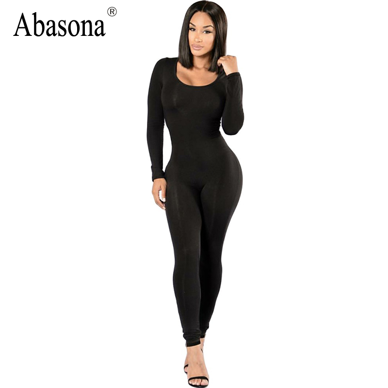 Popular Long Sleeve Black Jumpsuit for Women-Buy Cheap Long Sleeve ...