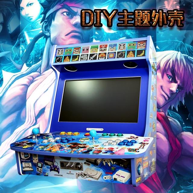 DIY nostalgia yueguangbaohe shell 4 home video arcade juego de arcade KOF arcada Calle personalizada