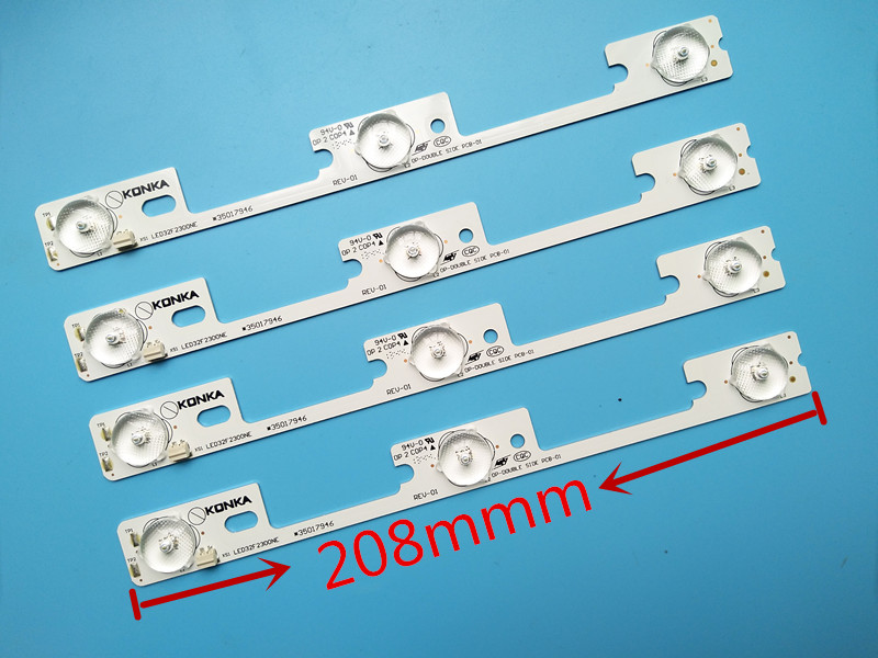 160pcs/lot New And Original For Konka Led32f2300ne Led32f2300fx Light Bar 35017946 35017948 Backlight Lamp Led Strip 6v Computer & Office