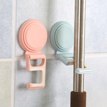 LISM 1PCS 4 Colors Plastic Seamless Wall Hanger Removable Bathroom Kitchen Wall Strong Suction Cup Hook Hanger Seamless Paste